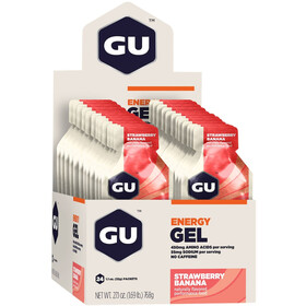 GU Energy Gel Box 24 x 32g, Strawberry Banana